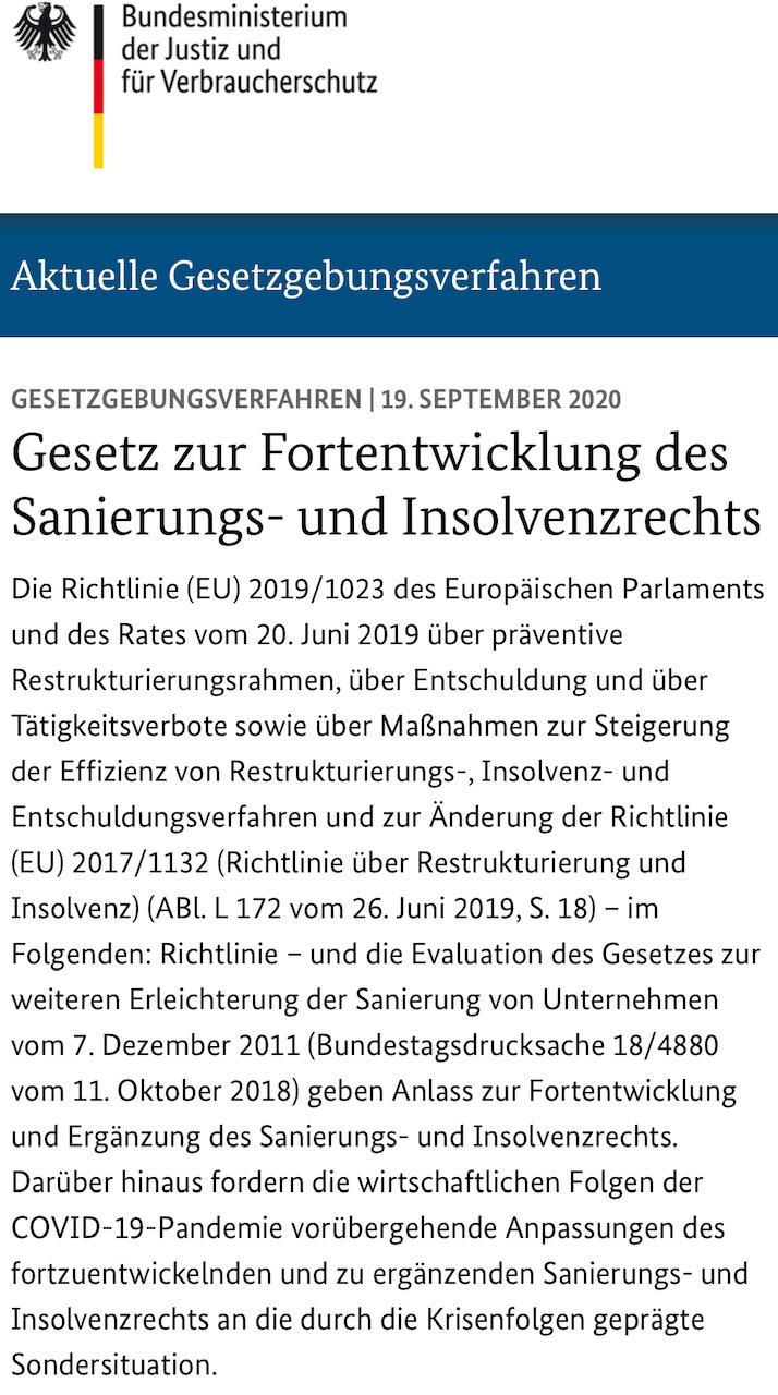 Referentenentwurf Zum Restrukturierungsrahmen Veröffentlicht