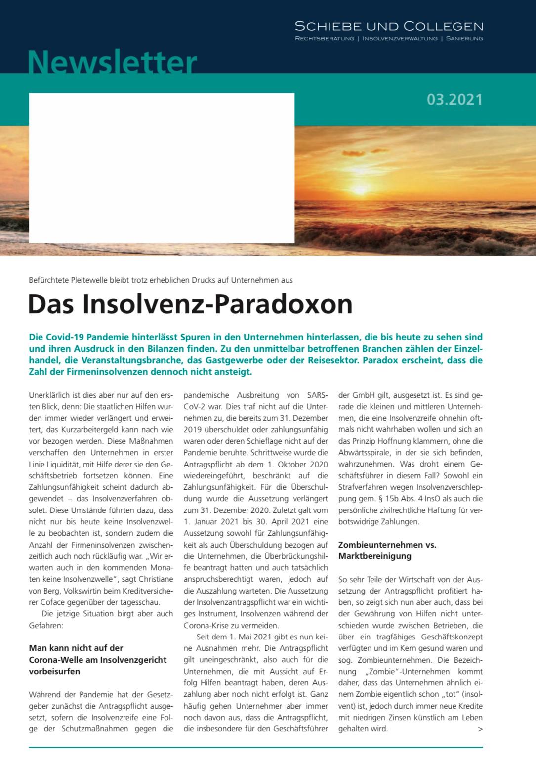 Das Insolvenz-Paradoxon